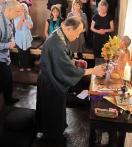 Yamada Ryoun Roshi, Sanbo Zen Abbot Visits Mountain Cloud