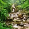 Waterfall in Indonesian jungle